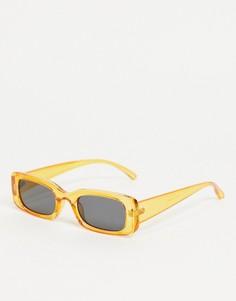 Массивные солнцезащитные очки в тонкой оправе Madein-Белый Madein.