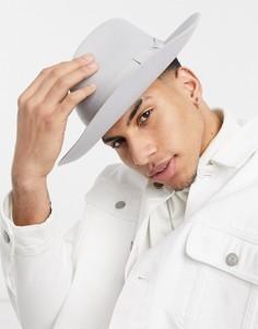 Серая шляпа-федора Amour-Серый