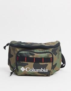 Камуфляжная сумка-кошелек на пояс Columbia-Зеленый цвет