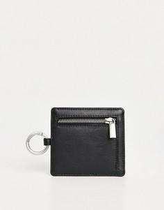 Кожаная кредитница с отделением длямонет Urbancode-Черный цвет