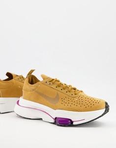 Кроссовки пшеничного цвета Nike Air Zoom Type-Коричневый цвет