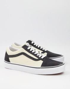 Кроссовки серого и кремового цвета Vans Old Skool-Голубой