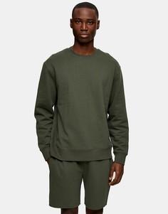 Шорты темного цвета хаки Topman-Зеленый цвет