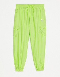 Зеленые джоггеры в утилитарном стиле Puma Classics-Зеленый цвет