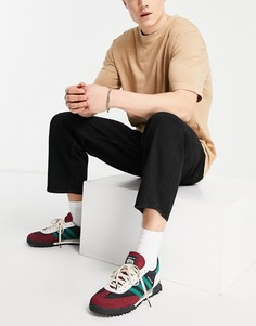 Черные широкие джинсы до щиколотки Jack & Jones Intelligence Rob-Черный цвет