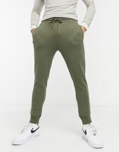 Джоггеры цвета хаки Topman-Зеленый цвет