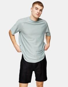 Черные саржевые шорты Topman-Черный цвет
