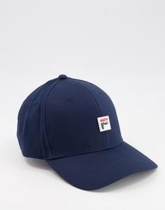 Темно-синяя бейсболка с маленьким логотипом Fila Fairs-Темно-синий