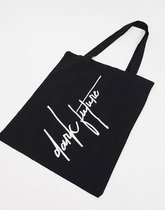 Черная сумка-тоут из плотной ткани ASOS Dark Future-Черный