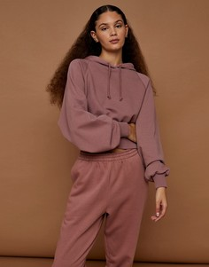 Розовый объемный худи с напуском Topshop Premium Leisure-Розовый цвет