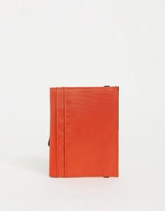 Оранжевая обложка для паспорта сконтрастной внутренней частью ASOS Daysocial-Черный цвет