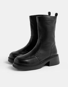 Черные ботинки челси на массивной подошве Topshop-Черный цвет
