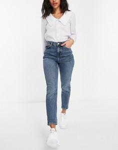 Синие джинсы в винтажном стиле Topshop-Голубой