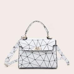 Сумка-портфель с геометрическим принтом Shein