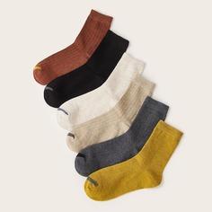 Носки в рубчки 6 пар Shein