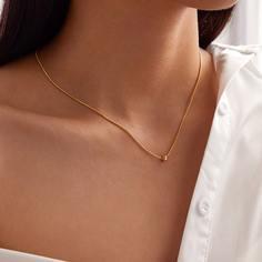 Ожерелье с декоративной бусинкой 1шт Shein
