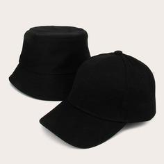 2шт Мужчины Простой Твердый Шляпа Shein