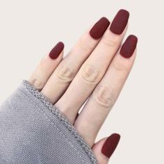 24шт матовые накладные ногти и двухсторонняя лента Shein