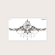 Стикер татуировки с цветочным принтом 1 лист Shein