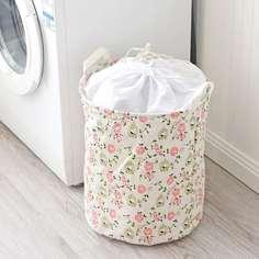 Корзина для хранения одежды с принтом цветка Shein