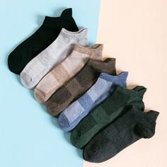 Мужские многоцветные носки 7 пар Shein