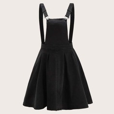Джинсовое платье-сарафна размера плюс Shein