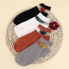 4 пары контрастные сетчатые носки Shein