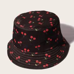 Мужская шляпа с вишневым принтом Shein