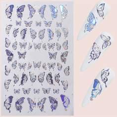 1 лист наклейка для ногтей в форме бабочки Shein