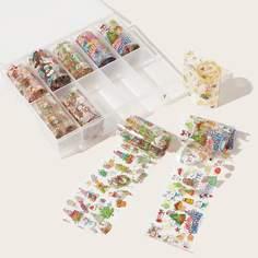 """10 рулонов наклейка для ногтей с принтом """"Рождество Shein"""