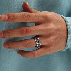 Геометрический принт Мужские кольца Shein
