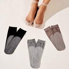 Прозрачный сетчатые носки 4 пары Shein