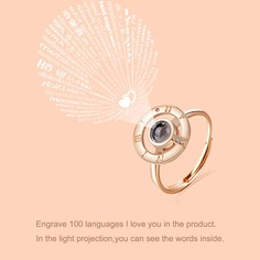 Световое проекционное кольцо горных хрусталей Shein