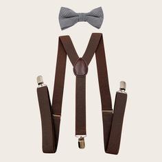 Мужские подтяжки и галстук-бант Shein