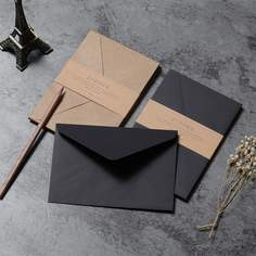 10шт конверт из крафт-бумаги Shein