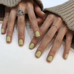 Однотонные накладные ногти 24шт Shein
