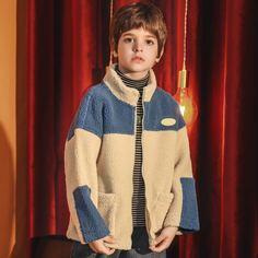 на молнии буква Повседневный Пальто для мальчиков Shein