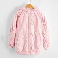 Ватное пальто с карманом для девочек Shein