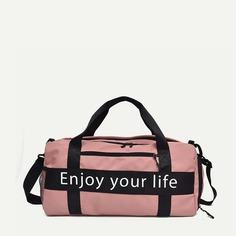 Спортивная сумка с принтом лозунгов Shein