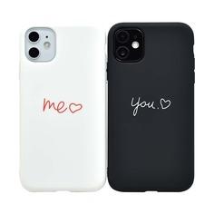 2шт чехол для iPhone с принтом сердечка Shein