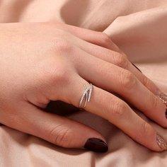 Кольцо с цирконом Shein