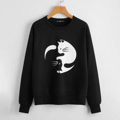 """Пуловер с принтом """"кошка Shein"""