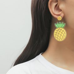 Серьги-подвески с ананасом Shein