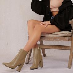 Ботинки на высоком каблуке из искусственной кожи Shein
