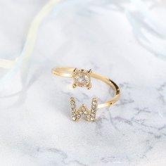 Открытое кольцо со стразами Shein