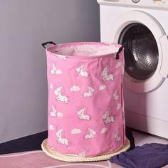 Корзина для хранения одежды с принтом единорога Shein