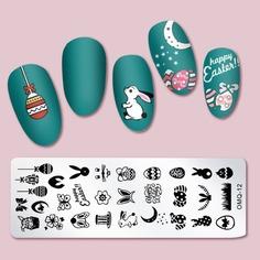 Шаблон для дизайна ногтей с мультипликационным рисунком Shein
