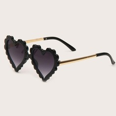 Детские солнцезащитные очки в форме сердечка Shein