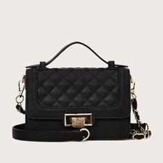 Стеганая сумка-портфель с клапаном Shein
