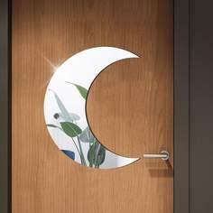 Настенные часы с зеркальной поверхностью в форме луны Shein